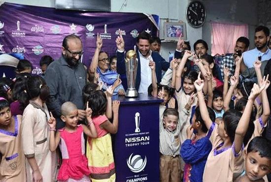 آئی سی سی چیمپئنز ٹرافی کی پاکستان آمد