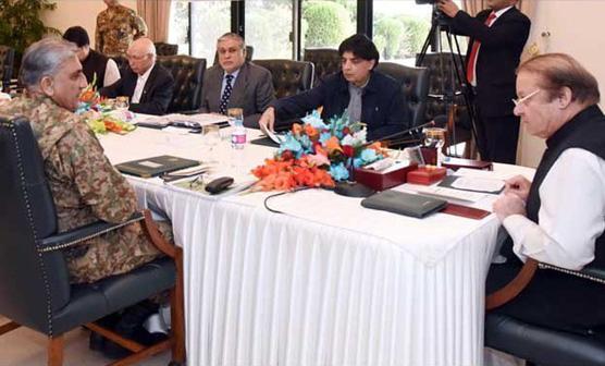وزیراعظم کا آرمی چیف کے ہمراہ اعلیٰ سطحی اجلاس