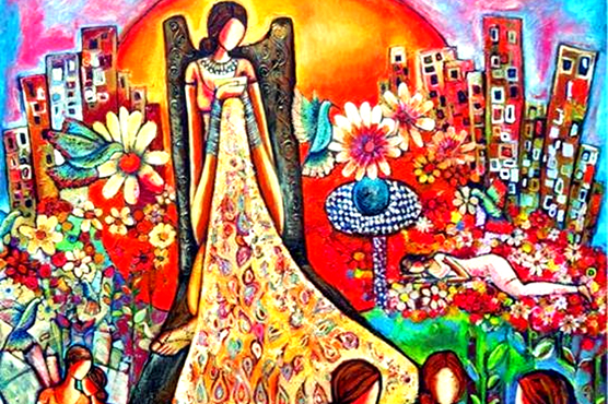 حمائل آرٹ گیلری میں شاہ ظل خان کے فن پاروں کی نمائش