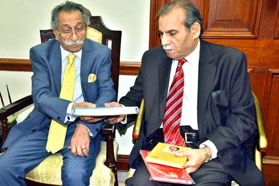 چیف ایگزیکٹوخبریں گروپ ضیاءشاہد کی سپیکر پنجاب اسمبلی سے ملاقات