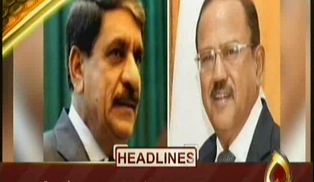 پاکستان،بھارت کے سلامتی مشیروں کی بینکاک میں ملاقات ہوئی ،بھارتی میڈیا