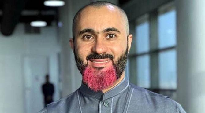 بیوی کی بیماری کے علاج با رے سعدی شہری کی گلابی داڑھی،سوشل میڈیا پر نئی بحث چھڑ گئی