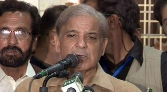 عمران خان نے مجھ پر جو الزامات لگائے انہیں ثابت بھی تو کریں: شہبازشریف