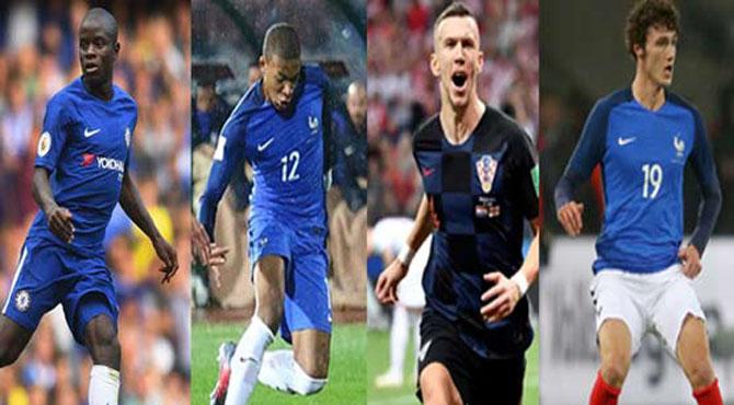 فرانس اور کروشیا کے چند کھلاڑی توجہ کا مرکز