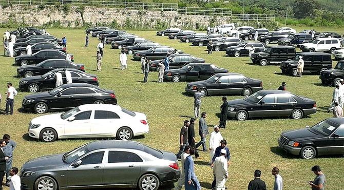 وزیراعظم ہاﺅس کی 102 میں سے 61 گاڑیاں نیلام