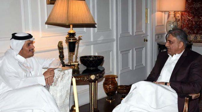 جنرل باجوہ سے قطر ی نائب وزیراعظم اور وزیرخارجہ کی ملاقات ،اہم امور پر گفتگو