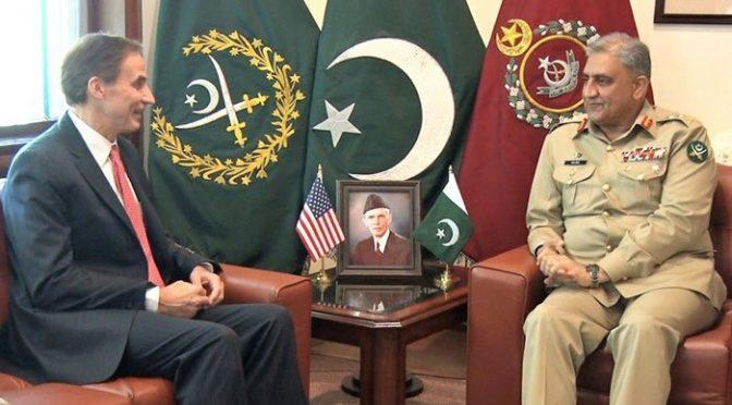 آرمی چیف سے امریکی ناظم الامور کی ملاقات، مختلف امور پر تبادلہ خیال