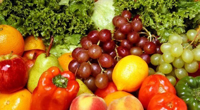 سرخ اورہرے رنگ کے پھل اورسبزیاں یادداشت کیلیے بہترین