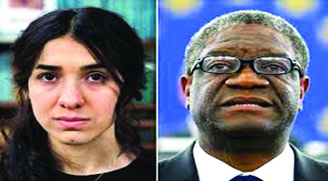 نوبل امن انعام عراق کی نادیہ مراداور کانگو کے ڈاکٹر ڈینس نے جیت لیا