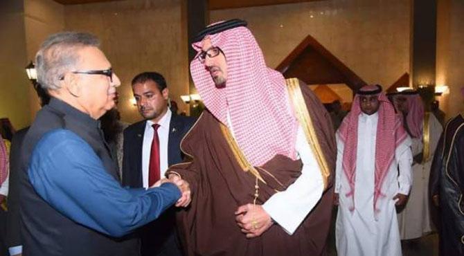 صدر مملکت ڈاکٹر عارف علوی سعودی عرب کے دورے پر مدینہ منورہ پہنچ گئے