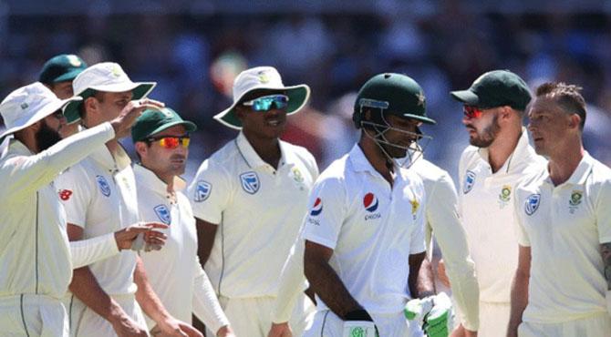 کیپ ٹاؤن ٹیسٹ؛ پاکستانی ٹیم پہلی اننگز میں 177 رنز پر آؤٹ