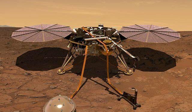 انسائیٹ خلائی جہازنے مریخ کا موسمیاتی خبرنامہ بھیجنا شروع کردیا