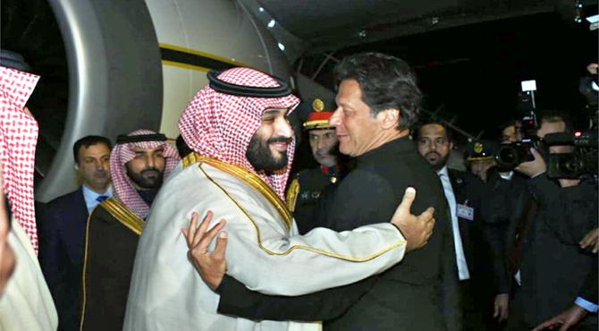 سعودی ولی عہد محمد بن سلمان کی پاکستان آمد ، شاندار استقبال