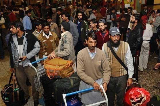 سعودی عرب سے مزید 150 پاکستانی رہا، وطن واپس پہنچ گئے