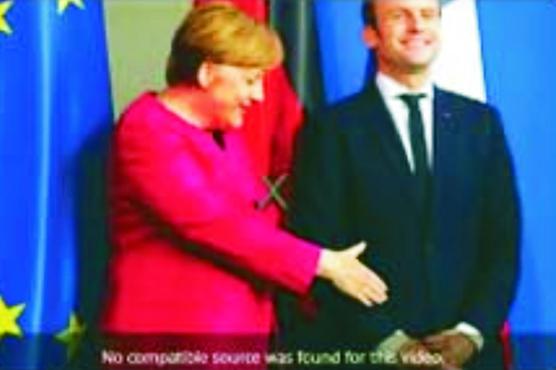 جرمن چانسلر کی شرمندگی