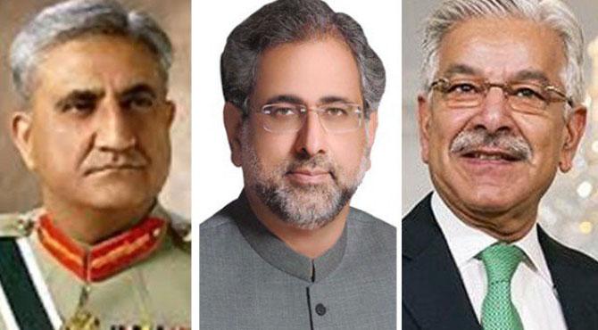 khawaja asif qamar bajwa and khakan