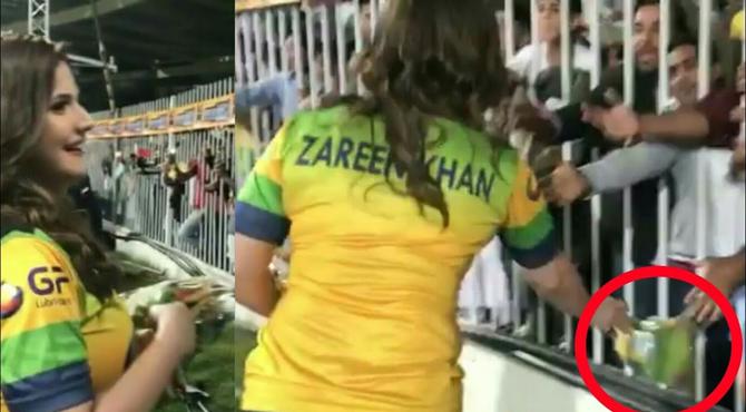بالی ووڈ کی بے باک اداکارہ زرین خان نے دبئی سٹیڈیم ٹی 10لیگ میںسرعام وہ کام کر ڈالا کہ سب دنگ رہ گئے