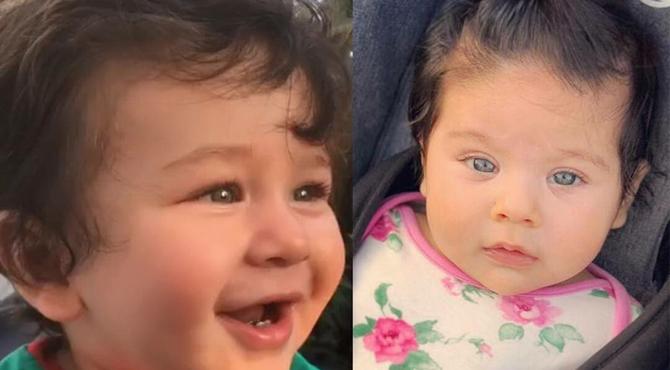 سوہاعلی کی بیٹی کی کرینہ کے بیٹے سے مشابہت کی تصاویر وائرل