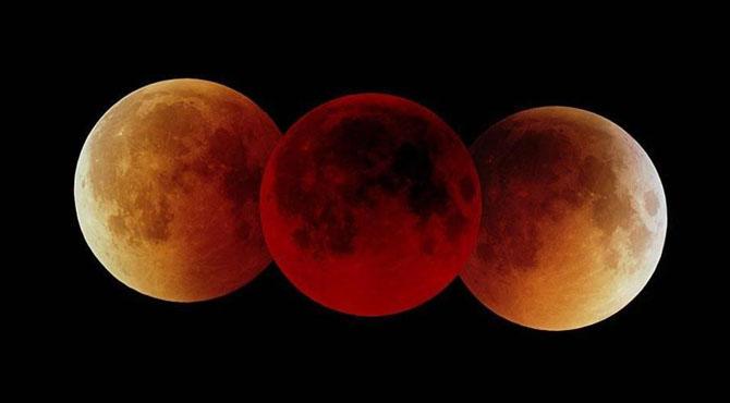 ڈیڑھ سو سال بعد نیلے اور سرخ چاند کا نظارہ۔۔۔