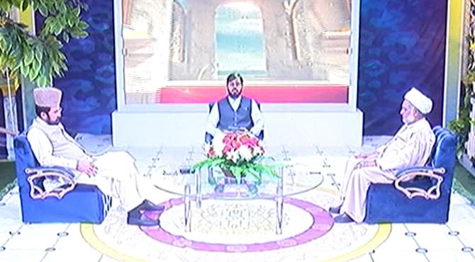 """نبی کریم نے حضرت حسنؓ اور حسینؓ کو جنت کے نو جوانوں کا سردار قرار دیا،علامہ ضیاءاللہ بخاری سخاوت میں بھی مثالیں قائم کی ،علامہ رشید ترابی کی چینل ۵کی خصوصی نشریات """"مرحبا رمضان """"میں گفتگو"""