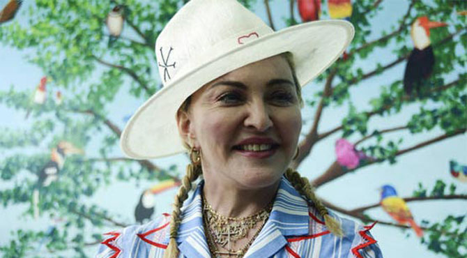 گلوکارہ میڈونا کی یتیم خانے کیلئے چندہ مہم شروع