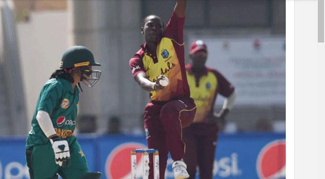 ویسٹ انڈیزویمن ٹیم نے پاکستان کو پہلے ٹی ٹوئنٹی میچ میں 71 رنز سے شکست دیدی