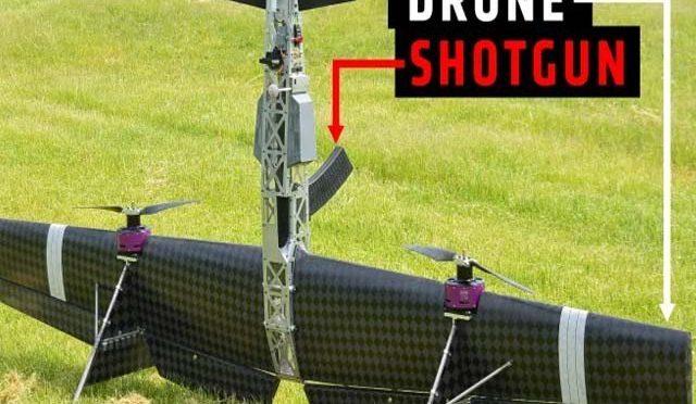 شاٹ گن کے ذریعے ڈرون طیارے تباہ کرنے والا لڑاکا ڈرون تیار