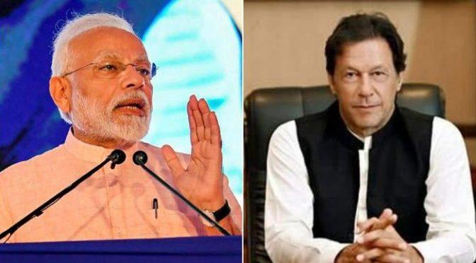 وزیراعظم عمران خان کی انتخابات میں کامیابی پر مودی کو مبارکباد