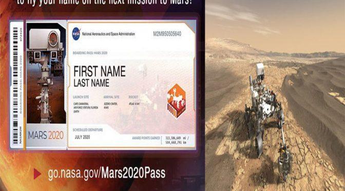 بذریعہ انٹرنیٹ مریخ پر اپنا نام بھیجیں