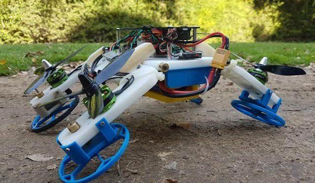 ہوا میں ڈرون اور زمین پر کار بن جانے والا روبوٹ