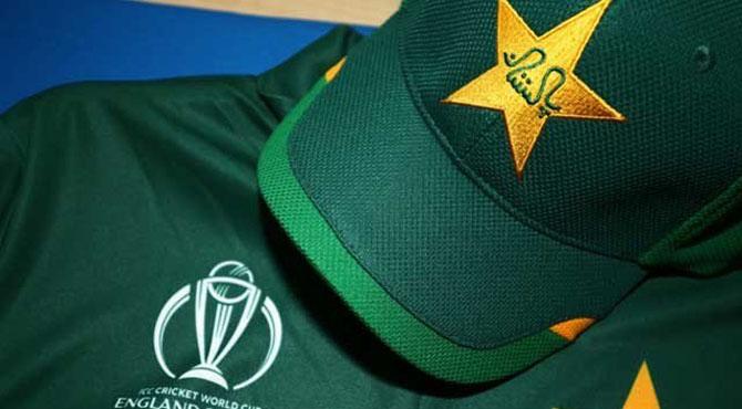 ورلڈ کپ کےلئے قومی کرکٹ ٹیم کی نئی جرسی کی رونمائی
