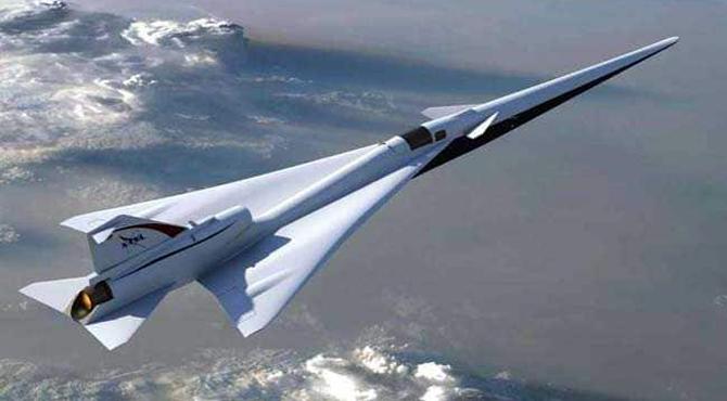 طیارے کے درمیان میں کاک پٹ والا ناسا کا نیا اورانوکھا سپرسانک جیٹ