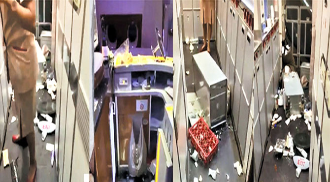 ایمریٹس پرواز ہوا کے تھپیڑ سے ٹکرا گئی ، طیارہ میں افرا تفری ، مسافر زخمی