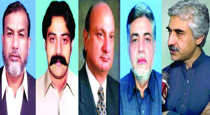 پنجاب کے 5 وزراءآگے پیچھے ہو گئے