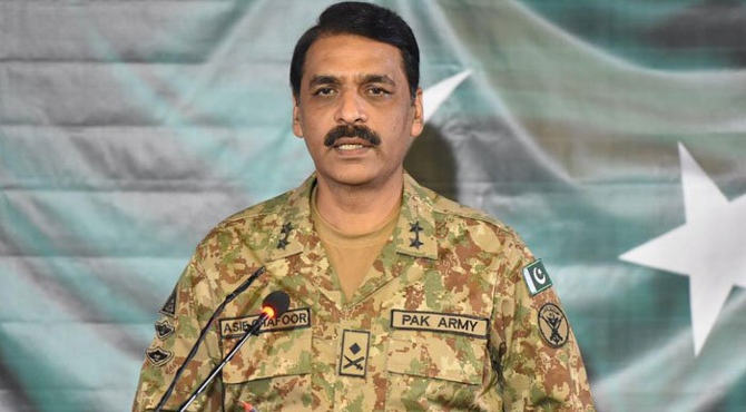 بھارتی فوج 80لاکھ کشمیریوں کا مقابلہ نہ کر سکی ،کروڑوں پاکستانیوں کا کیسے کریگی،میجر جنرل آصف غفور