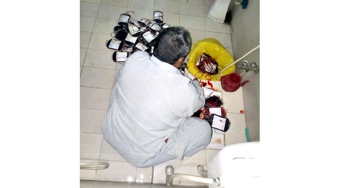 جنرل ہسپتال، باتھ روم میں خون ،بلڈ بیگ پھینک کر تلف کئے جانے لگے