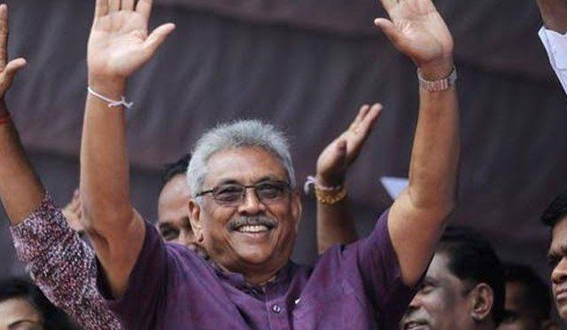سری لنکا کے صدارتی الیکشن میں اپوزیشن امیدوار گوٹابایا راجا پاکسے کی فتح