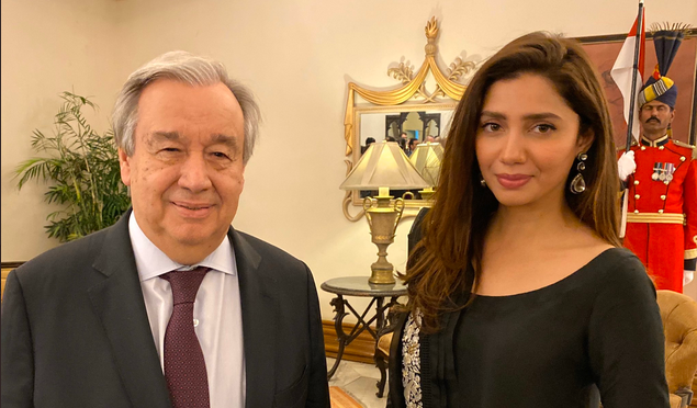 یواین سیکرٹری جنرل اداکارہ ماہرہ خان کے شکرگزار