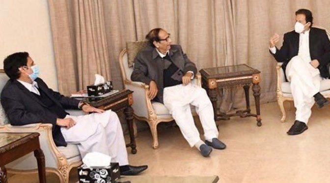 وزیراعظم عمران خان کی چودھری شجاعت کے گھرجاکر عیادت