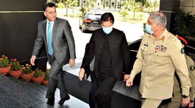وزیراعظم سے آرمی چیف کی ملاقات، ڈی جی آئی ایس آئی فیض حمید بھی شریک